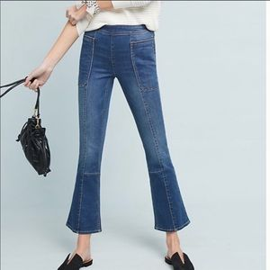 Pilcro Utility High Rise Cropped Bootcut Jeans
